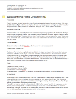 Three page business synopsis ion freshstart advanced business three page business synopsis flashek Images